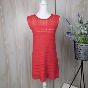 Guinevere Coral Lightweight Knit Dress